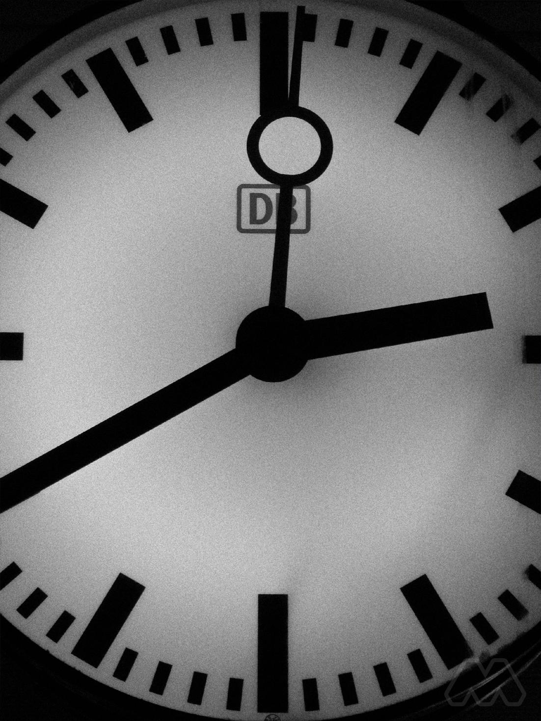 Orologio stazione in Germania