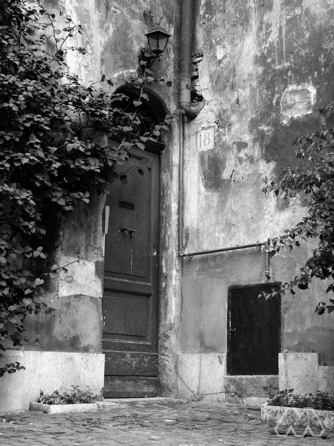 Piccolo portone a Trastevere