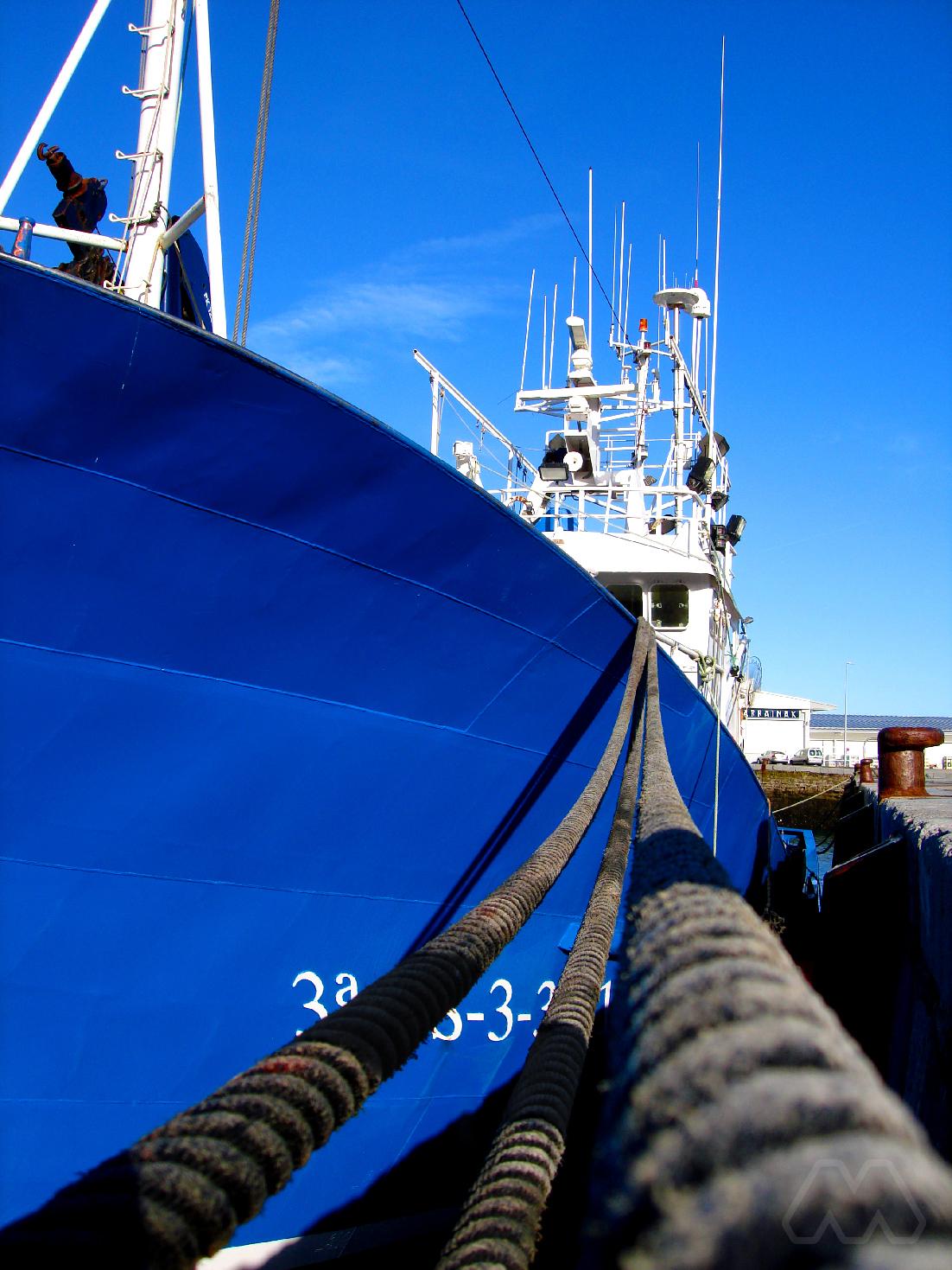 Pesquero en el puerto